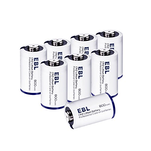 EBL CR2 Batteries 3V 800mAh DL-CR2 Battery with PTC Protection for Golf Rangefinder, Laser Boresighter, Laser Pointer, Funifilm Instax Mini55 8 Pack