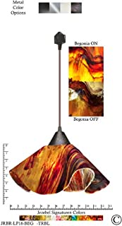 product image for Jezebel Signature Lily Track Lighting Pendant Large. Hardware: Brown. Glass: Begonia