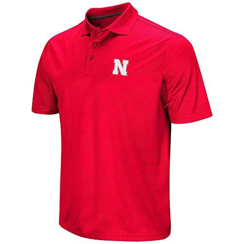 Mens NCAA Nebraska Cornhuskers Polo Shirt (Team Color) - S ()