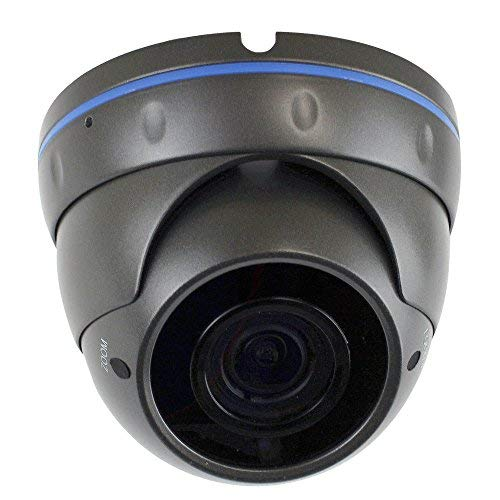GW Security VD5489IP H.265 POE IP Security HD IP 5MP (1920P/1080P) Varifocal Dome Camer (Gray)