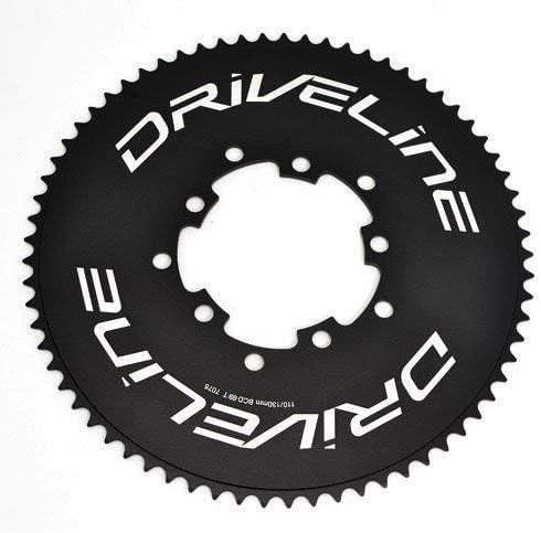 BCD 110//130mm ST1408 Black Driveline 69T AL7075 Road Bike Bicycle TT Chainring 69T