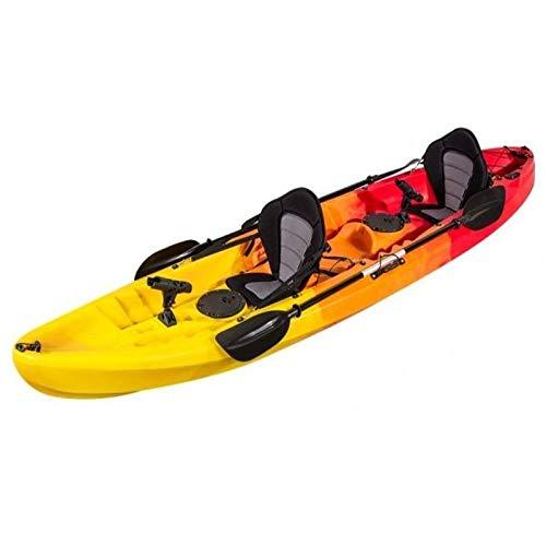 MegaPiscinas. com Kayak RÍGIDO Pesca para Dos. 370x86x42 cm. Rojo ...