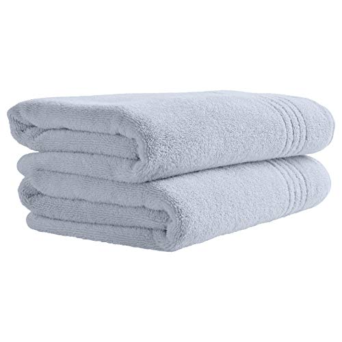 Rivet Quick-Dry Cotton Bath Towels, 2-Pack, Chambray