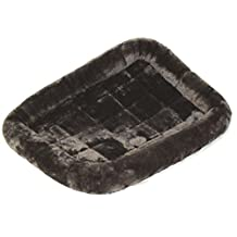 Midwest Quiet Time Pet Bed, 42-Inch x 26-Inch (Gray)