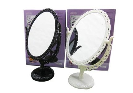 Amazon Com Daiso Japan Swivel Free Stand Mirror For Vanity Top And