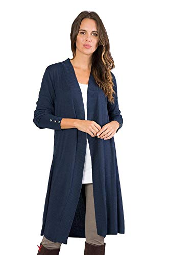 Simply Noelle Buttons Down My Back Long Cardigan, Cinnamon L/XL