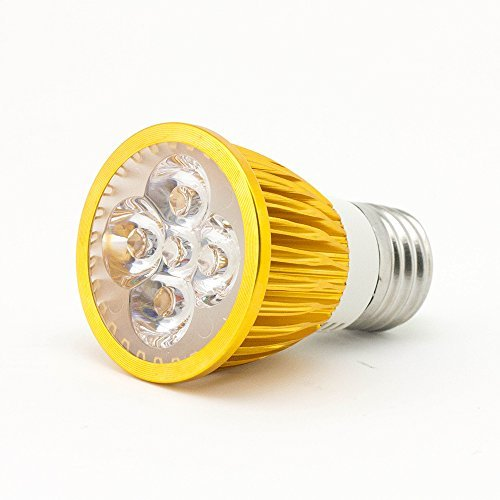 SUPERNIGHT® LED Plant Grow Light for Indoor Hydroponic Garden Greenhouse (E27, 5W) - Energy Saving LED Spotlight Lamp Bulb for Garden Use - Golden