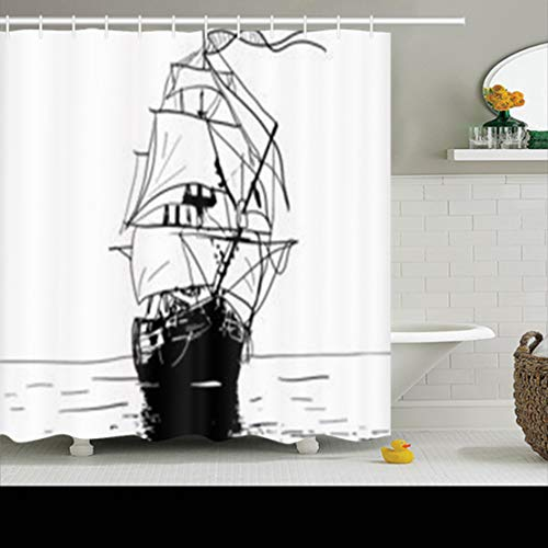 ArtsDecor Shower Curtains Sets with Hooks 66 x