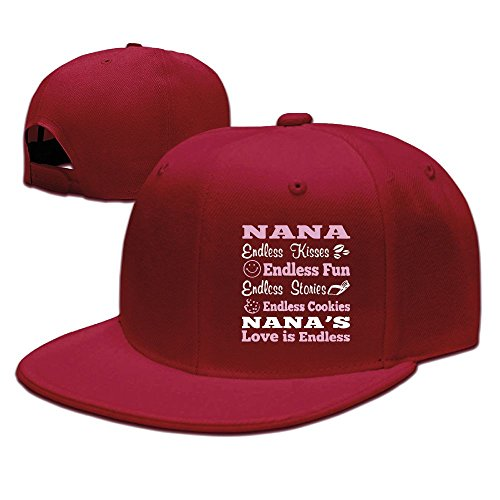 ndless Love Cool Golf Red Cap Hat Adjustable Snapback ()