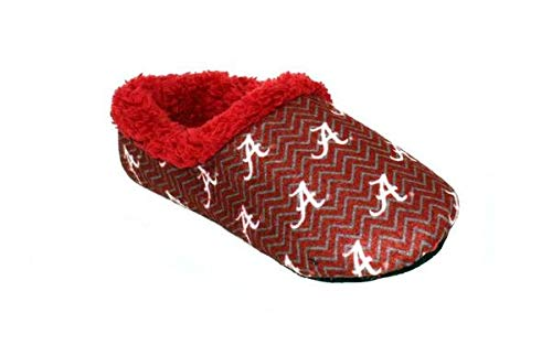 - ALA11-2 - Alabama Crimson Tide - Medium - Happy Feet Mens and Womens Chevron Slip On Slippers
