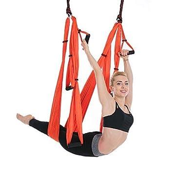 Amazon.com: CHSSC Yoga Hammock, 6 Hand Aerial Yoga Hammock ...