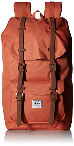 Herschel Little America Backpack, Apricot Brandy/Saddle Brown, One Size