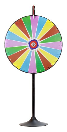 MIDWAY MONSTERS Color Dry Erase Prize Wheel with Extension Base and Extension Pole, 36-Inch