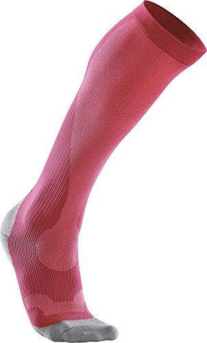 2XU Women's Compression Run Sock Hot Pink/Grey S by 2XU (Image #1)