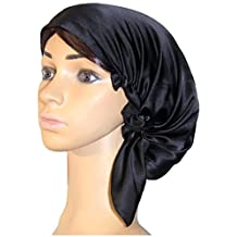 October Elf Women Sleep Cap 100% Mulberry Silk Night Cap Head Cover