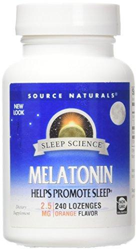 Source Naturals Melatonin 2.5mg Sleep Support, Orange Flavor - 240 Lozenges