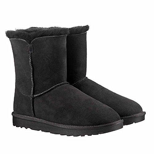 Kirkland Signature Ladies Genuine Sheepskin - Shearling Lining - Zipper Boots for Women (9, Black) ()