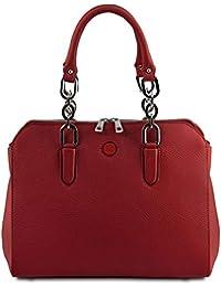 Lilia Leather handbag Red