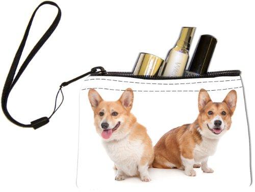 Rikki Knight Pembroke Welsh Corgi Dog Design Keys Coins Cards Cosmetic Mini Clutch Wristlet