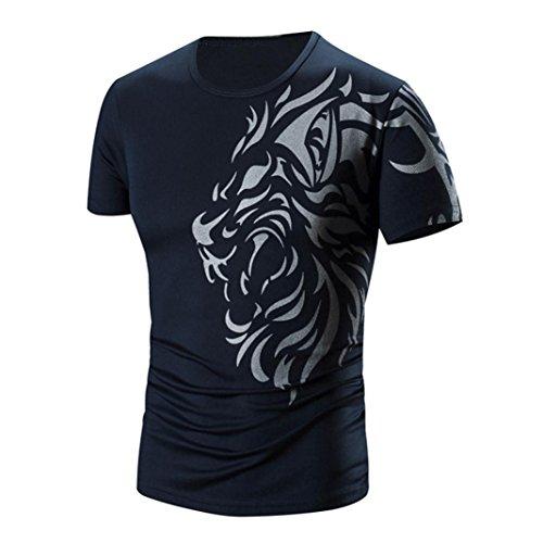 雪のレルム維持Hanaturu メンズtシャツ 半袖 格好いい 快適コットン 通気性 おしゃれ柄Tシャツ スポーツやデイリー プリントtシャツ 大きいサイズ M-4XL