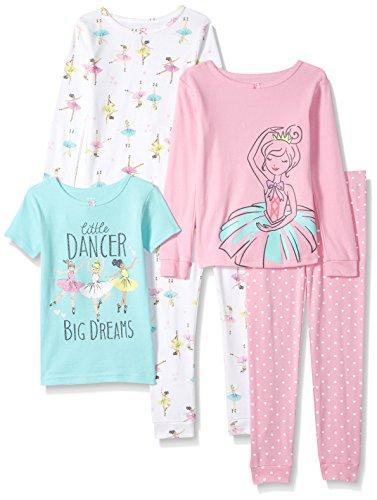 Carter's Girls 5-Piece Cotton Snug-Fit Pajamas, Little Dancer, 7 (Ballerina Cloth)