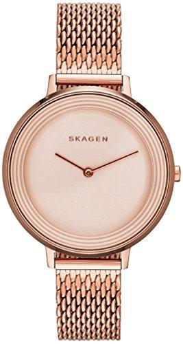 Ladies Mesh Skagen (Skagen SKW2334 Ladies Ditte Rose Gold Mesh Strap Watch)