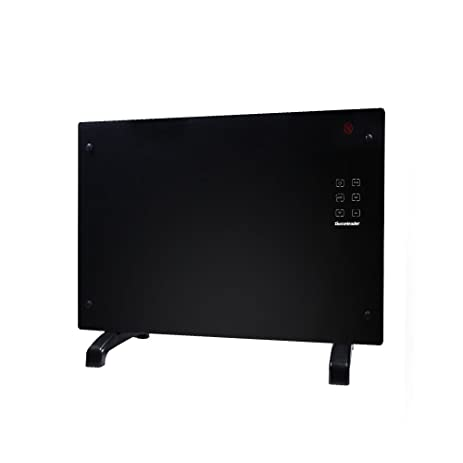 Homeleader Electric Panel Heater GH-15F, Crystal Glass Flat Convector Heater with LED Screen