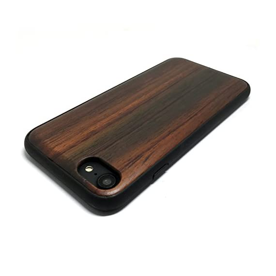 iPhone 7/iPhone 8 Case, iPhone 7 Wood case, BTHEONE Natural Genuine Wooden Case for iPhone 7 ?Real Wood Ultra Slim Hard… 4 √ Compatible with iPhone 7 (Not for iPhone7 Plus) √ Naturally wood different,each wood back has a unique grain and texture. √ Specially designed for iPhone 7, has precise design for speakers, charging ports, audio ports and buttons.