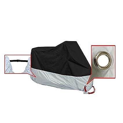 Lona Impermeable con Bolsa de Almacenamiento Doitsa Funda de protecci/ón de Moto de poli/éster 190T Camuflaje y Negro 4XL: 295 x 110 x 140 cm