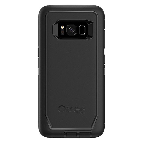OtterBox Defender Series Case & Holster for Samsung Galaxy S8 (Screen Protector NOT Included) - Black (Renewed)