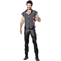 California Costumes Men's Renaissance Man Captain John Smith Historical Character Costume, Gray, Small