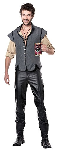California Costumes Men's Renaissance Man Captain John Smith Historical Character Costume, Gray, X-Large (John Smith Costumes)