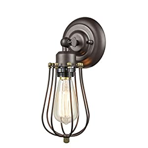 Wall sconce with birdcage casing