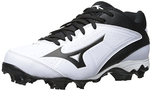 Mizuno Foam Softball Glove - Mizuno Women's 9 Spike adv Finch elite2 wh-bk-w, White/Black, 8 M US