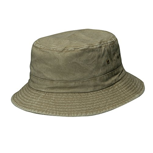 Dorfman Pacific Cotton Packable Summer Travel Bucket Hat, 2XL, Sand
