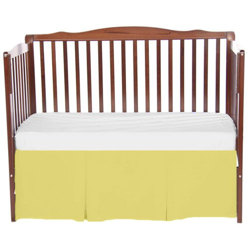 bkb Solid Tailored Crib Skirt, Yellow by bkb