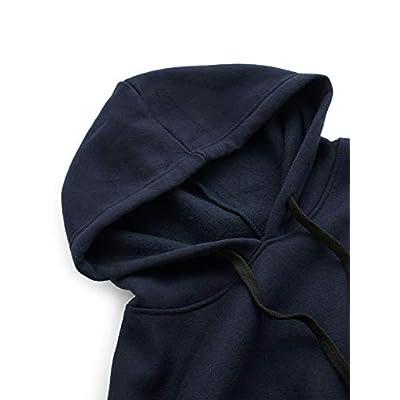 SweatyRocks Sweatshirt Pullover Fleece Drop Shoulder Striped Hoodie at Women's Clothing store