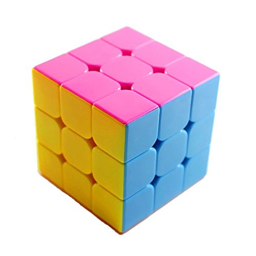 3x3x3 Stickerless Puzzle Speed Magic Rubik`s Cube Pink,Durable with Vivid Color,Best Birthday Christmas Puzzle Gift for your Children