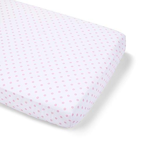 Summer Infant Full Size Crib Sheet, Pink Polka Dot -