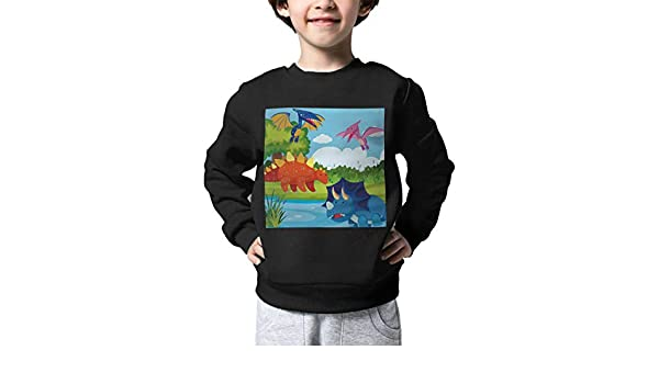 Unisex-Baby Cartoon Dinosaurs Long Sleeve Round Neck Casual Pullover Top Knit \r\nSweater for Kid Boys Girls