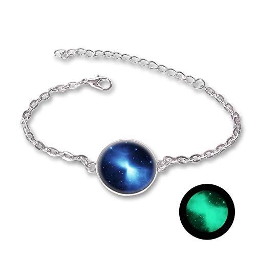 WODESHENGRI Bracelet,The Darkness Crystal Bracelet Jewelry Star Series Planet Bracelets & Bangles Glass Cabochon Bracelets