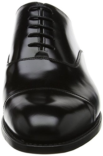 Barker Herren Winsford Oxfords, Schwarz Black (nero Lucido)