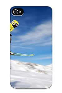 Diy For Apple Iphone 4/4S Case Cover - Eco-friendly Retail Packaging(clouds Snow Sports Helmet Ski )