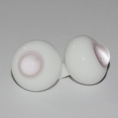 1 Pair Glass Clear Pink No Pupils Ball 8mm Round Ball Eyes for BJD Dollfie SD Doll