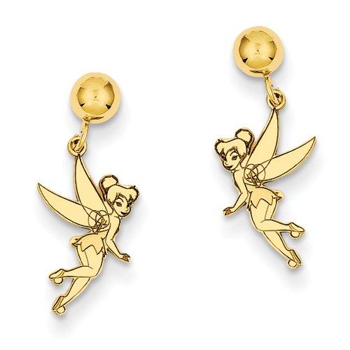 14 Carats Pendentif Fée Clochette Disney-JewelryWeb Boucles d'oreille