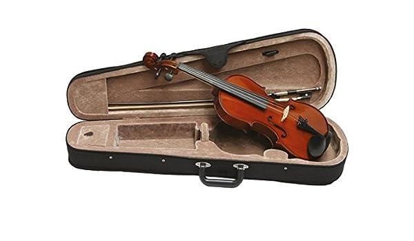 Scarlatti 3/4 con clavijas de diseño con forma de violín, diseño de lazo y funda: Amazon.es: Instrumentos musicales