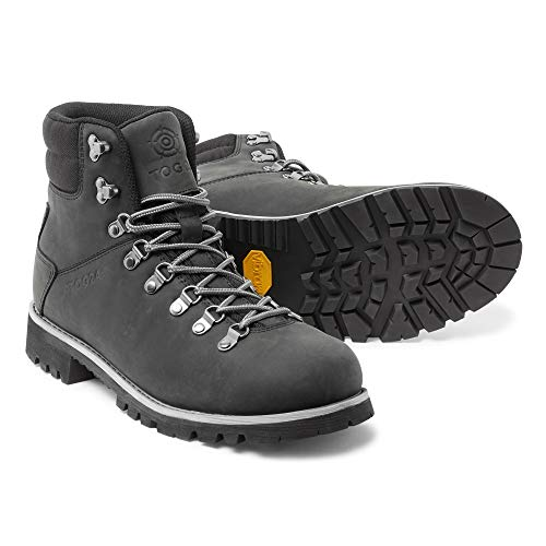 TOG 24 Ingleborough Unisex Waterproof Walking Boots in Distressed Leather with Vibram Sole Ideal for Trekking and Hiking