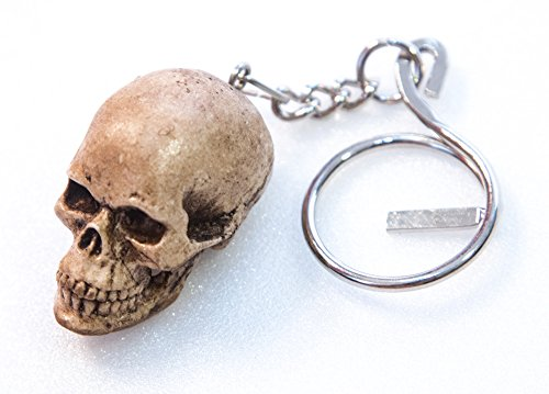 Figure Celtic Skeleton skull key ring keyring head handmade Resin human bonehead mini realistic Miniature Collectibles hand painted Resin Punk Chopper biker ring Harley decor decoration