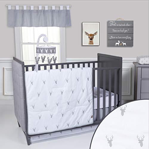 Trend Lab Stag Head 3Piece Crib Bedding ()