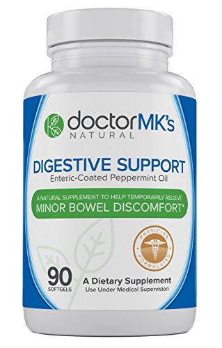 IBS Relief Supplement by Doctor MK's®, Compare to IBgard® Ingredients, 90 Capsules of Enteric Coated Peppermint Oil, Treatment for Irritable Bowel Syndrome, Digestive Support Formula